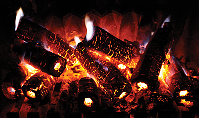 Glowing cold fusion fireplace logs will be simple to fabricate if the Rossi patent teaches.