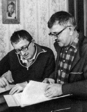The late Arkady and Boris Strugatsky