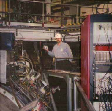 Here I am with my sonofusion reactor in hand standing on the General Atomics HOT fusion Tokamak. My device cost under $500 to make the Tokamak 'stage prop' cost more than $5 billion