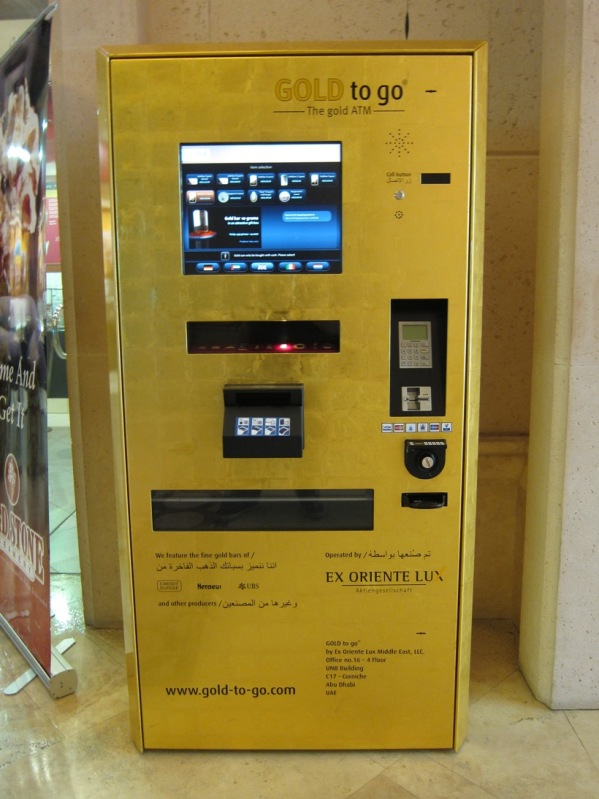 Vending machine for buying gold bars in Middle East airport